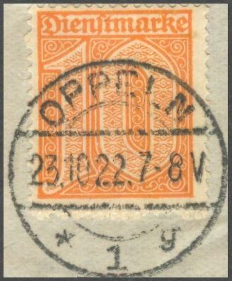 Deutsches Reich Dienst Mi. 65 Briefst�ck gepr�ft